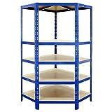 Certeo scaffale per carichi pesanti | angolare | 180x90x45 cm |Scaffale metallico scaffale industriale scaffale per l'officina scaffale per il garage