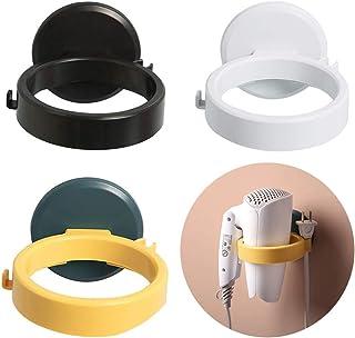 WhatUneed - Supporto per asciugacapelli con ventosa, supporto da parete in plastica per bagno, salone di bellezza, uso dom...