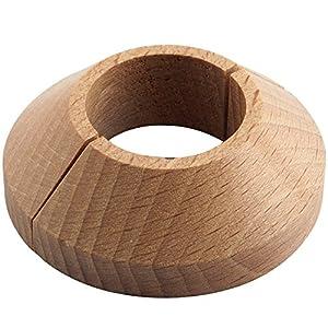 'secotec Radiador roseta madera maciza de haya barnizada 22./55mm 1/2, madera heizkörpe Techos, madera roseta, 1pieza, r600.23–02.l de 6