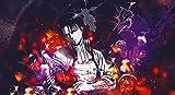 Anime Attack On Titan - Sword art online DIY 5D Kit de Pintura de Diamante (40x60cm),Diamantes de imitación de Diamante Bordado de Punto de Cruz,Manualidades para decoración de Pared