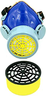 BRUFER 301231 Anti-Dust Single Filter Cartridge Respirator Mask - Paint Chemical Gas Filter Mask with Activated Carbon Filter - 1 Extra Replacement Filter Included (1 Filter)