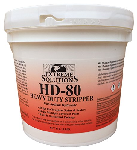 Heavy Duty Wood Stripper & Wood Cleaner for Wood Decks, Wood Fences, Wood Siding, and Log Cabins - HD80 - Woodrich Brand - Sealer & Stain Remover - Covers up to 3000 Square Feet