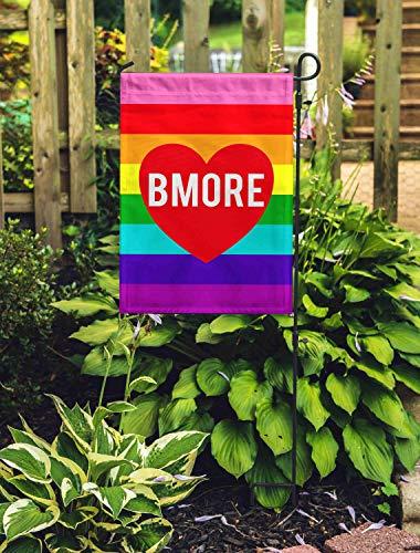 Free Brand Bandera de Baltimore con orgullo gay de Baltimore, bandera de jardín arco iris LGBTQ Gay Pride mes LGBTQ Orgullo LGBTQ Bandera de jardín LGBTQ