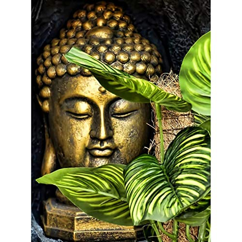 Jigsaw Puzzle 1000 Piece Leaves and Buddha Avatar Adult Puzzle DIY Kit Wooden Puzzle Modern Home Decor Unique Gift