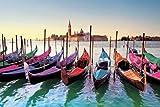 Venedig - Gondolas Venice Italien Schiffe Poster Plakat