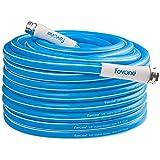 Fevone 100ft Hybrid Polymer Garden Hose, 5/8 inch Heavy duty Water Hose, Flexible Gardern Water Hose, Drinking Water Safe