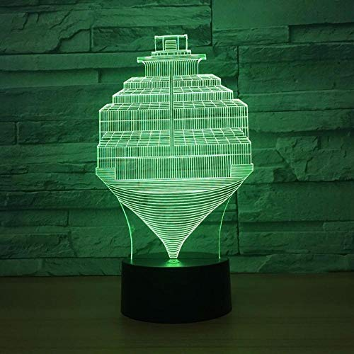 Luces de ilusión 3D, acrílico, luz nocturna con pasos, lámpara de ilusión USB, 7 cambios de color, interruptor táctil, LED, para interior o dormitorio, decoración de fiestas, regalos para niños