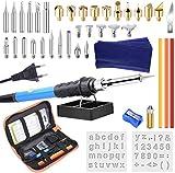 ETEPON Pirografia Legna Professionale Kit, Saldatura Elettrica Kit 48PCS, Temperatura Regolabile 60W Con Punte Per Saldatura - ET005