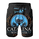 XCNGG Pantalones Cortos de Playa Catalina Wine Mixer Wine Mixer Men's Swim Trunks Quick Dry Waterproof Beach Pants Beach Board Shorts with Pockets
