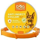 Natural Dog Treats Collar Antiparasitos para Perros, Gatos, Tamaño Ajustable e Impermeable para Mascota Pequeño Mediano Grandes, contra Pulgas, Garrapatas y Mosquitos
