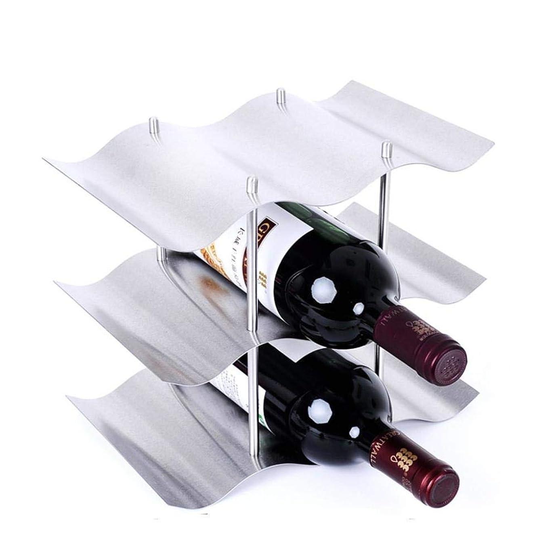 期待して未知のデザイナーZxyan ワインホルダー ワインラック おしゃれ FENGFANワインワインラック、小さな自立棚、棚、貯蔵;赤と白のワインボトルホルダー9本のボトルの幾何メタルデザイン インテリア カウンタートップ テーブル 自宅に最適