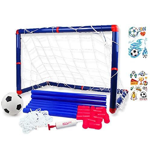 Georgie Porgy Portátil de fútbol para niños Goal Gate Baby Balón de fútbol Bomba Deportes de Interior y al Aire Libre (Puerta de fútbol 2663)