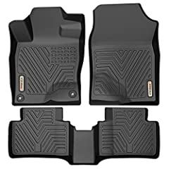 CUSTOM FIT: These floor mats are compatible with 2016-2020 Honda Civic sedan/hatchback or Type R(Does not fit Coupes), 3D laser scanning technology giving the front and back fully protection. Not for vehicles with vinyl floors, Please take out old fl...