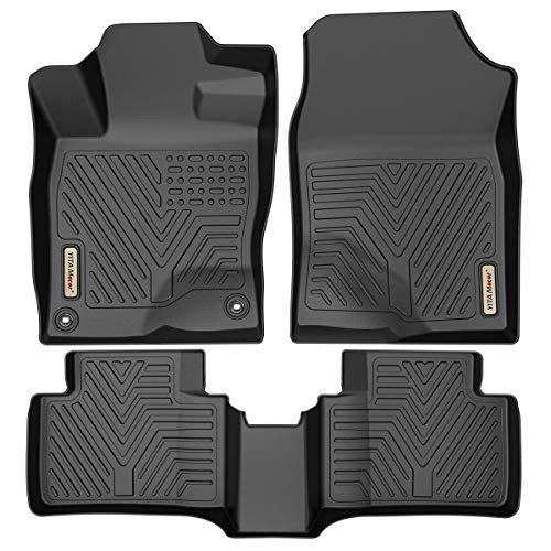 YITAMOTOR Floor Mats Compatible with Honda Civic, Custom Fit Floor Liners for 2016-2021 Honda Civic Sedan/Hatchback or Type R, 1st & 2nd Row All Weather Protection, Black