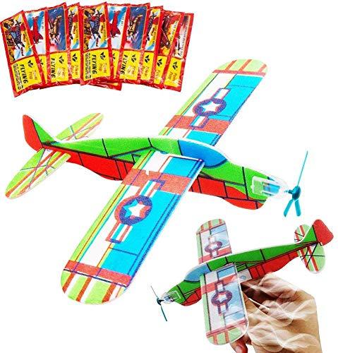 24 Aerei di Carta.BESTZY Alianti Volanti Perfetti Come regalini da Festa,ricompense di Classe e per riempire i Sacchetti Regalo per Bambini