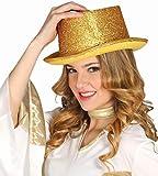 Gorro Sombrero de Copa Dorado Accesorio Disfraz Carnaval Fiesta Halloween