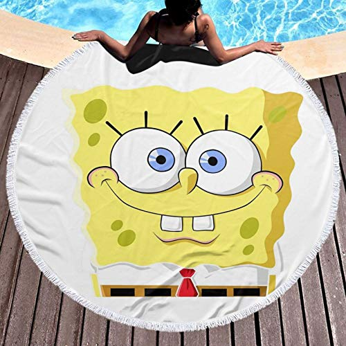 Toalla de playa Spon-ge-Bob ligera, resistente al cloro, toalla de piscina, perfecta para tumbonas, toallas de baño, playa, gimnasio