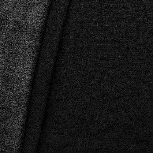 Alpenfleece Sweatshirt Stoff Meterware Schwarz