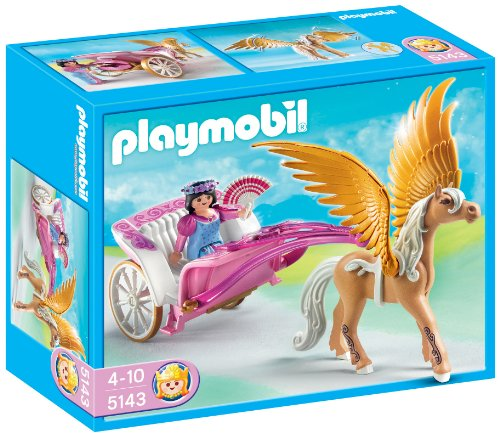 PLAYMOBIL Future Planet - Princesas Pegaso con Carruaje, Princesas Pegaso con Carruaje, Multicolor, 25 x 10 x 20 cm, (626700)