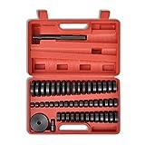 LARS360 Lot de 52 disques de montage pour enfoncer les roulements et prises Jeu d'outils de pièce de pression 18 à 65 mm