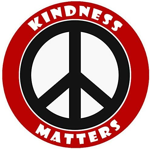 Kindness Matters Peace Sign Decorative Car Truck Decal Window Sticker Vinyl Die Cut Vacation product image