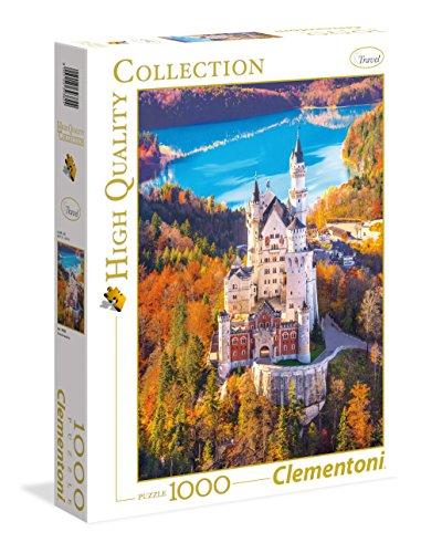Clementoni- Neuschwastein Los Pingüinos De Madagascar Puzzle, 1000 Piezas, Multicolor (39382)