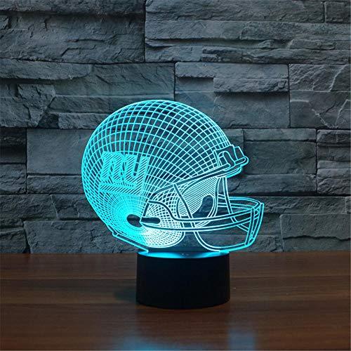 Lámpara de escritorio LED con ilusión óptica 3D para Nueva York a Giants Touch LED de mesa de cristal Arylic RGB cambiable LED Estado de ánimo para cumpleaños vacaciones un regalo
