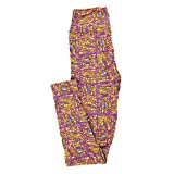 Lularoe Tween Leggings Floral Geometric Fits Adult Sizes 00-0