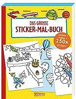 Das grosse Sticker-Mal-Buch: Suchen, malen, stickern