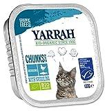 Yarrah Comida para Gatos orgánica para Pescado, 100 g, 16 Unidades (16 x 0,1 kg)