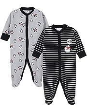 ملابس نوم حرارية للأطفال الأولاد من جيربر Penguin Stripe 0-3 Months