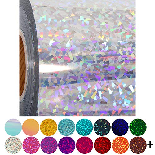 "Threadart Holographic Crystal Silver 20"" Heat Transfer Vinyl Film 