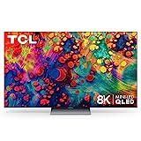 TCL 65' Class 6-Series 8K Mini-LED UHD QLED Dolby Vision HDR Smart Roku TV - 65R648, Black