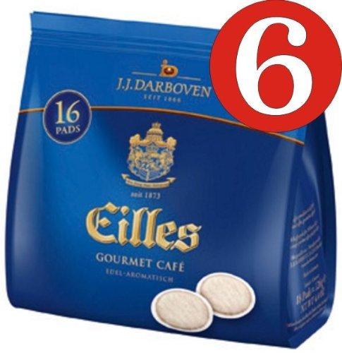 6 Stück Eilles Gourmet Cafe Pads 16 Pads a 7g