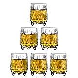 Dreibein Gläser, kreative Retro Schnapsgläser, 6er Set, Glücksglas, Schnapsgläser, Tequila-Gläser, Whiskeyglas, Bierkrug