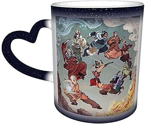 KEROTA Avatar The Last Legend Airbender - Taza cambiante de color sensible al calor, taza cambiante en el cielo mágica arte divertido tazas de café taza de cerámica para el hogar