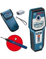 Bosch Professional Wallscanner GMS 120 (marker voor boorgaten, max. detectiediepte hout/ferrometaal/non-ferrometaal/spanningvoerende leiding: 38/120/80/50 mm) - Amazon Exclusive