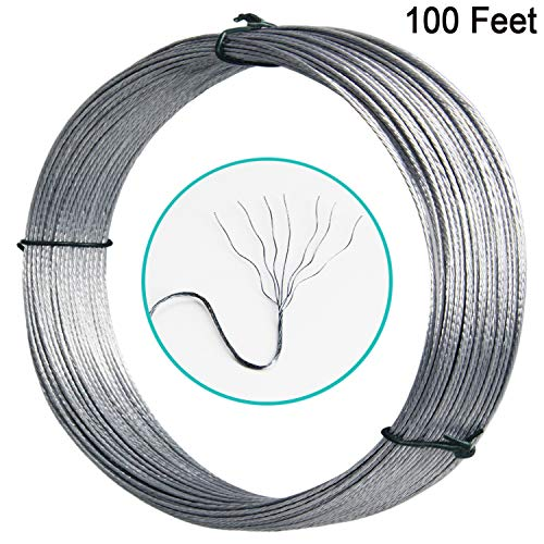 Picture Hanging Wire #2 100-Feet Braided Picture Wire Heavy for Photo Frame Picture,Artwork,Mirror Hanging,Supports up to 30lbs