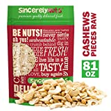 Sincerely Nuts Cashew Pieces (Raw) (5 LB)- Vegan, Keto, Paleo and Gluten-free food-Add to Your Favorite Recipes-Nutritious and Delicious On-the-Go Snack-High in Beneficial Vitamins and Minerals