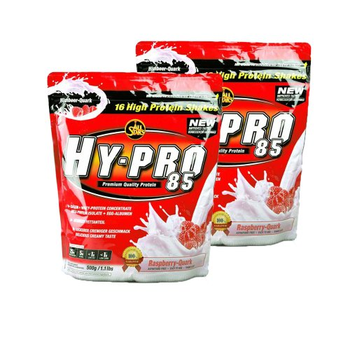 All Stars Hy-Pro 85 Protein Whey+ EGG (2 x 500g = 1000g), Himbeere-Quark