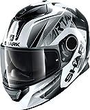 Shark Casco Moto Spartan 1.2karken WKK, color blanco/negro, XL