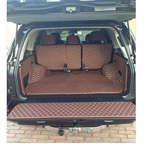 Cfbcc for Lexus LX 570 5seats 2017 LX570 2016-2013, Matten Spezial Stamm wasserdichte Stiefel Teppiche Liner (Color : Black with red)