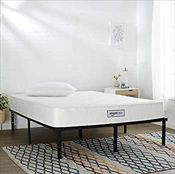 Amazon Basics Pocket Coil Mattress - Features High-Density Foam Layer Reversible Easy Set-Up CertiPUR-US certified 8-Inch Queen