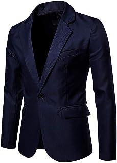 Giacca Uomo Elegante Blu Abito Cotone Elasticizzata Slim Fit Italiana da 52 a 60