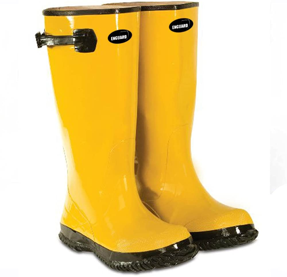 Ranking TOP2 Enguard Yellow Slush Boots Max 60% OFF Over Shoe Heavy Rubber. The Duty-Wat