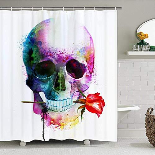 NHJYU Cortina de Ducha Tenda da doccia Halloween Shower Curtain with 1
