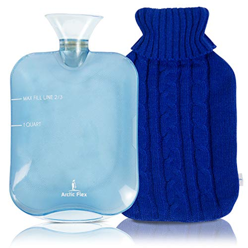 Arctic Flex Hot Water Bottle (XL 2 Liter) - Heat Up Rubber...