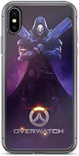 Gryss Compatible with iPhone 7 Plus/8 Plus Case Overwatch D.VA Cute Hoodie Shooter Game Pure Clear Phone Cases Cover