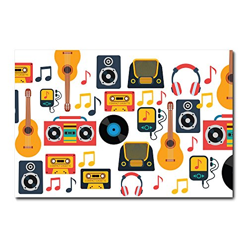 Placa Decorativa - Instrumentos Musicais - 1852plmk