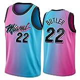 Jimmy Butler Jersey para Hombres, Miami Heat 22# Basketball Jersey 2021 New City Edition Juvenil Swing T-Shirt Top Top (S-XXL) XL